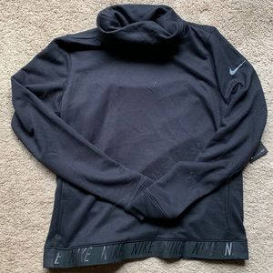 Black Nike High Neck Sweatshirt